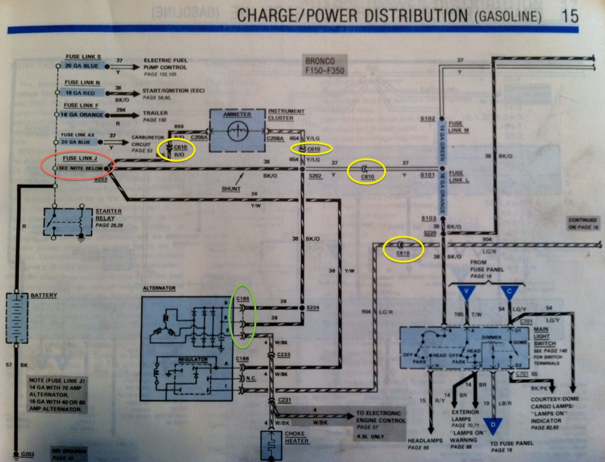 1986 ford ranger wiring diagram 2002 honda crv parts f150 help finding short fusible link blowing