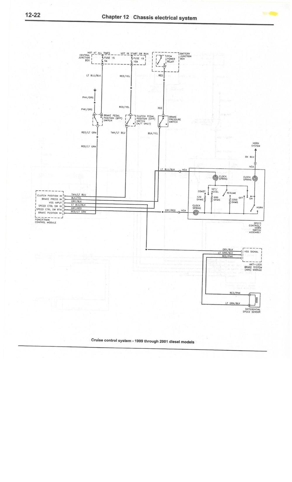 medium resolution of cruise control 99 01 diesel