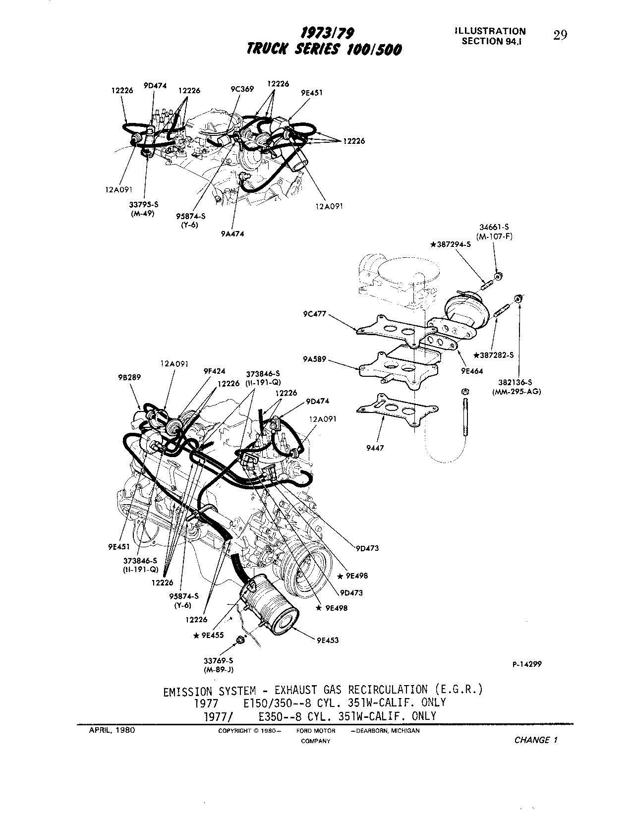 Egr Spacer Plate Position