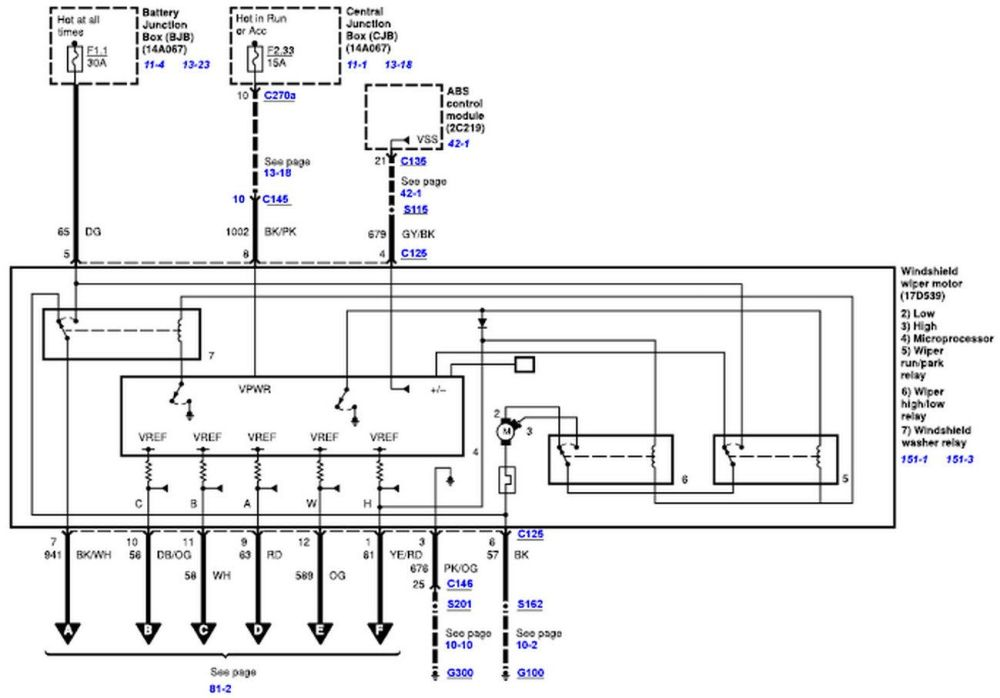 medium resolution of wiper motor wiring diagram for a 2008 2010 ford truck 07 ford f250 wiring diagram 07 ford focus wiring diagram