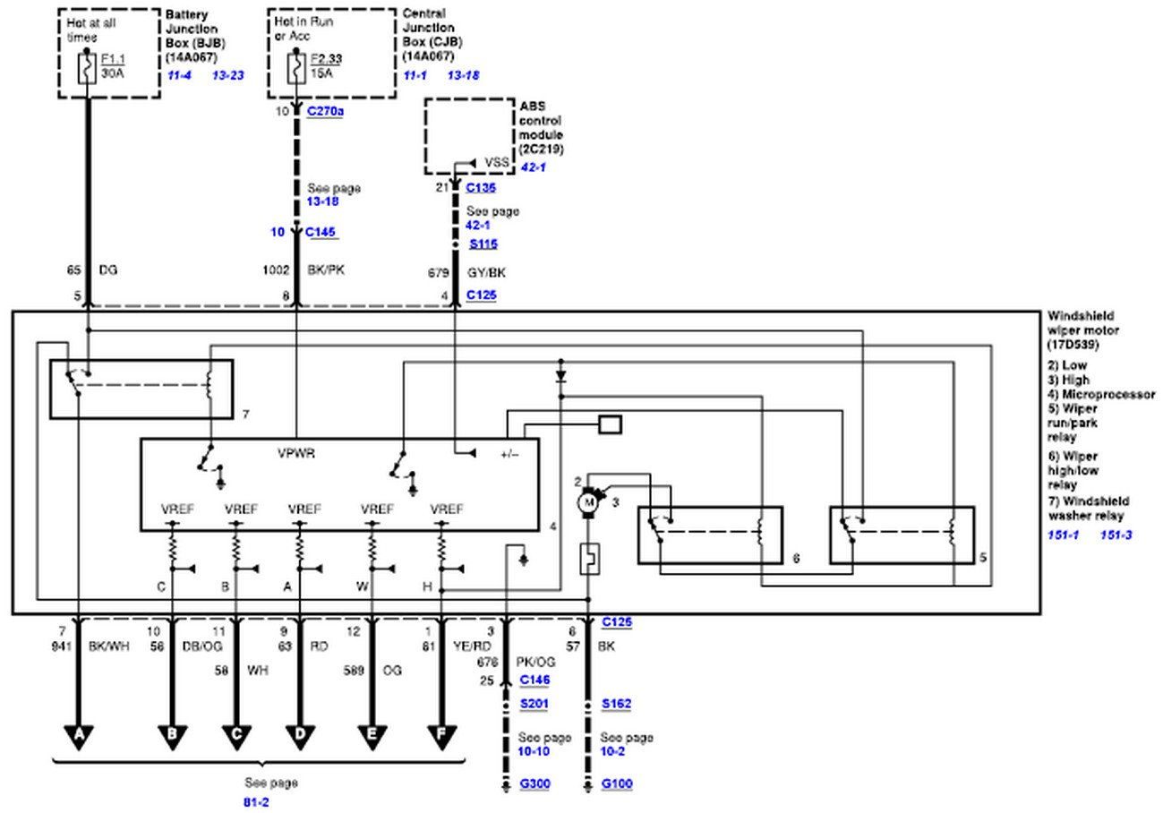 hight resolution of wiper motor wiring diagram for a 2008 2010 ford truck 07 ford f250 wiring diagram 07 ford focus wiring diagram