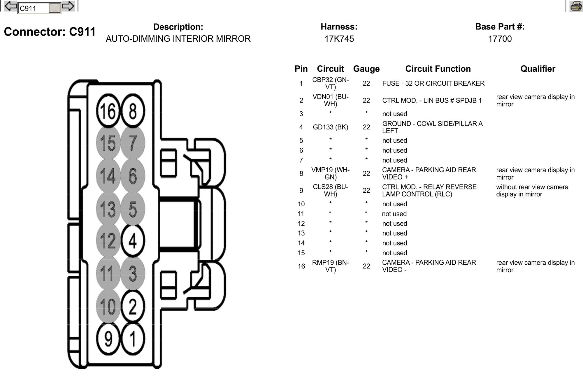 2016 Diagram F150 View Wiring Rear Mirror
