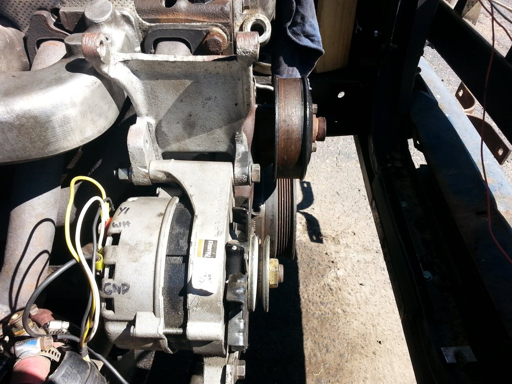 medium resolution of the major issue is that the alternator is sitting back about 1in too far