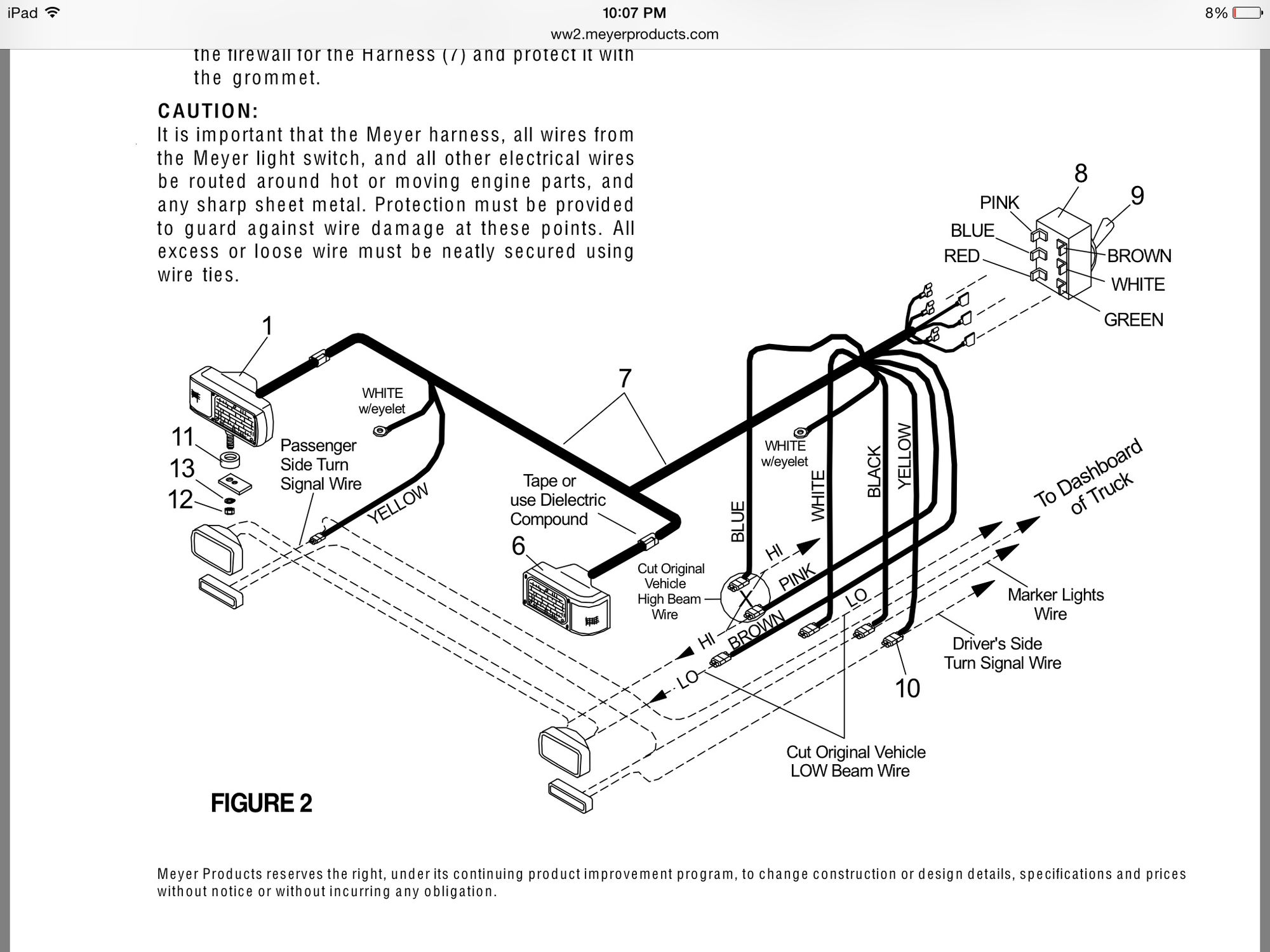 meyers plow light wiring diagram 1995 dodge ram radio meyer lighting insight ford truck enthusiasts forums