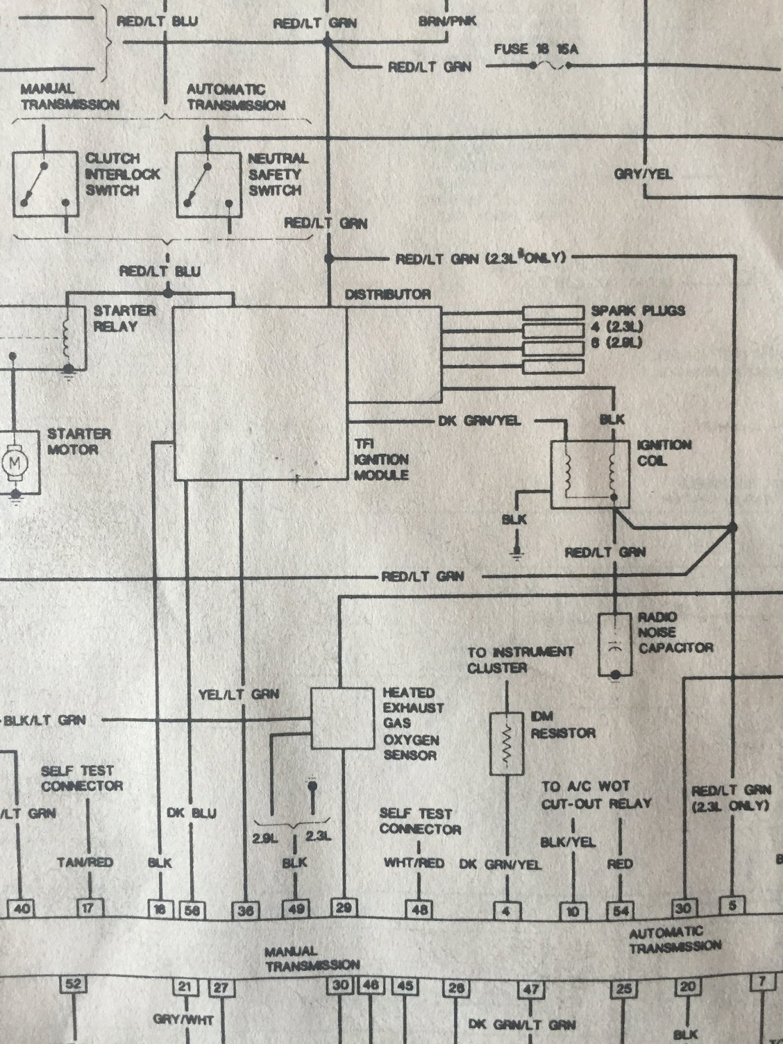 hight resolution of  tach wire question ford truck enthusiasts forums factory tach wiring diagram ranger on 1988 ranger