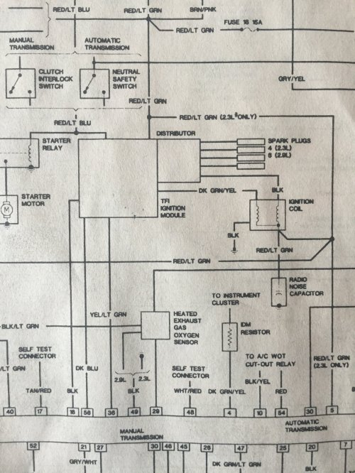 small resolution of  tach wire question ford truck enthusiasts forums factory tach wiring diagram ranger on 1988 ranger