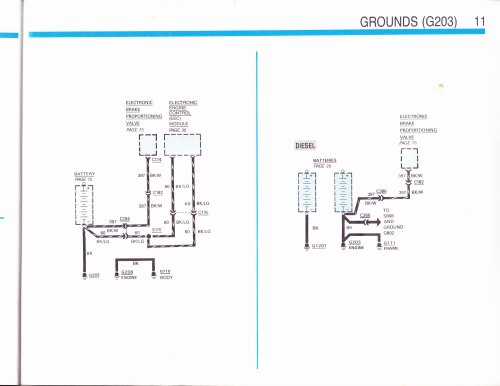 small resolution of as you can see in the diagram on the left there is a ground connection from the engine to the body br origonally g203 is on the right side of engine to