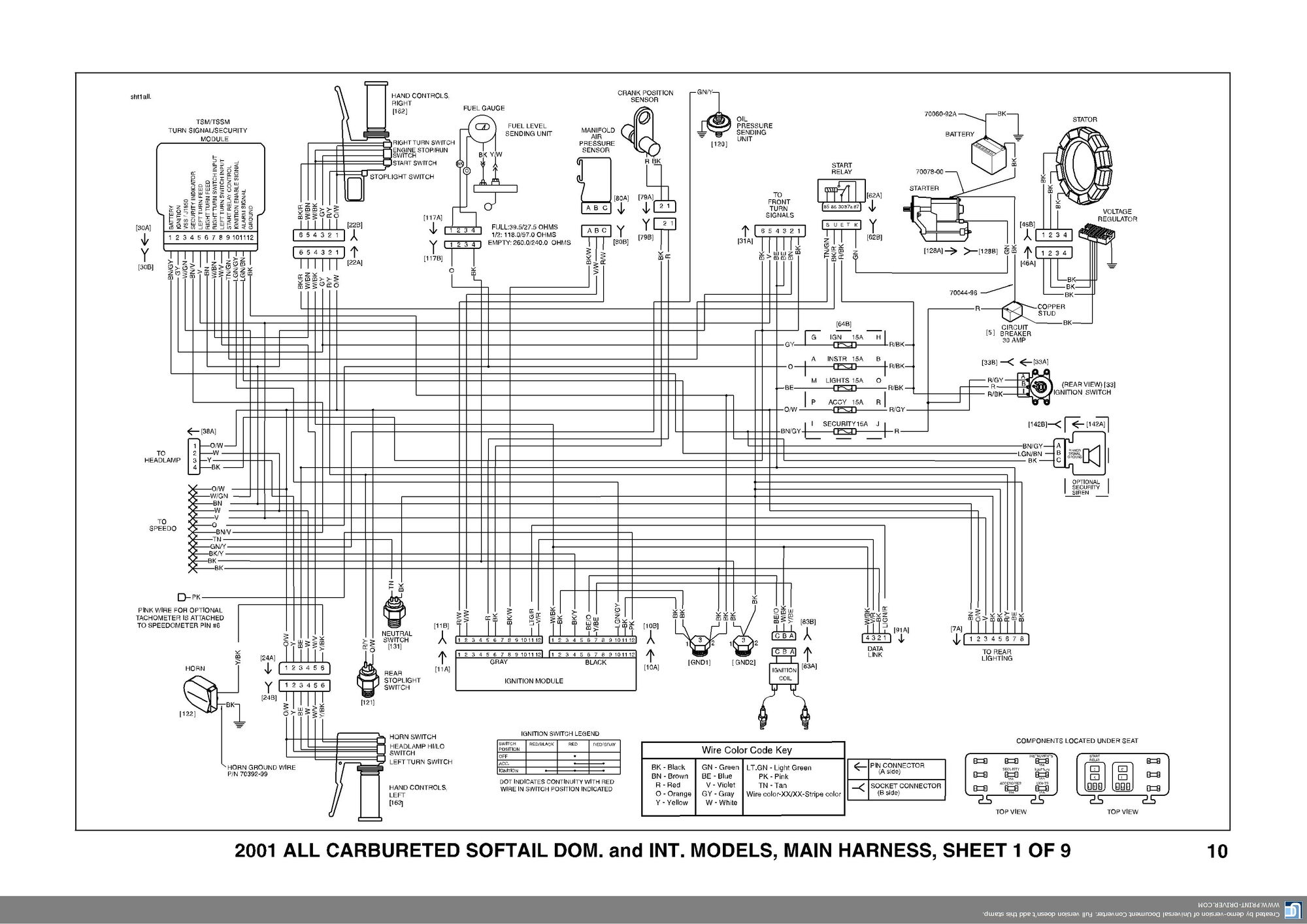2000 harley sportster 883 wiring diagram 2006 holden rodeo stereo davidson 97 auto