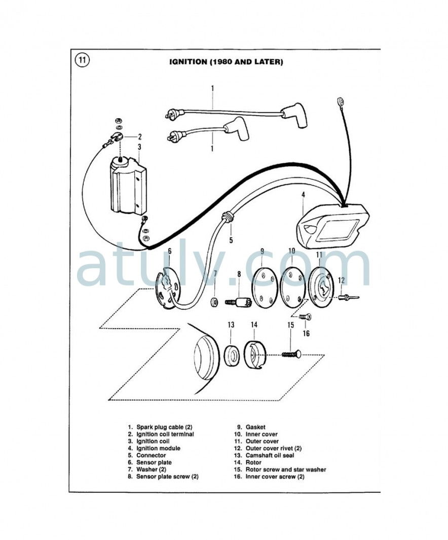 Shovelhead Electronic Ignition Wiring With. Parts. Wiring