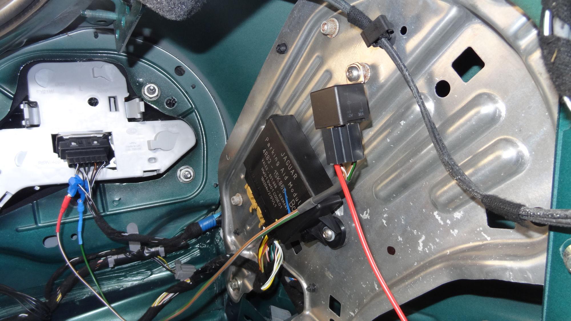 Jeep Xj Starter Wiring Reverse Camera Install Problem Jaguar Forums Jaguar