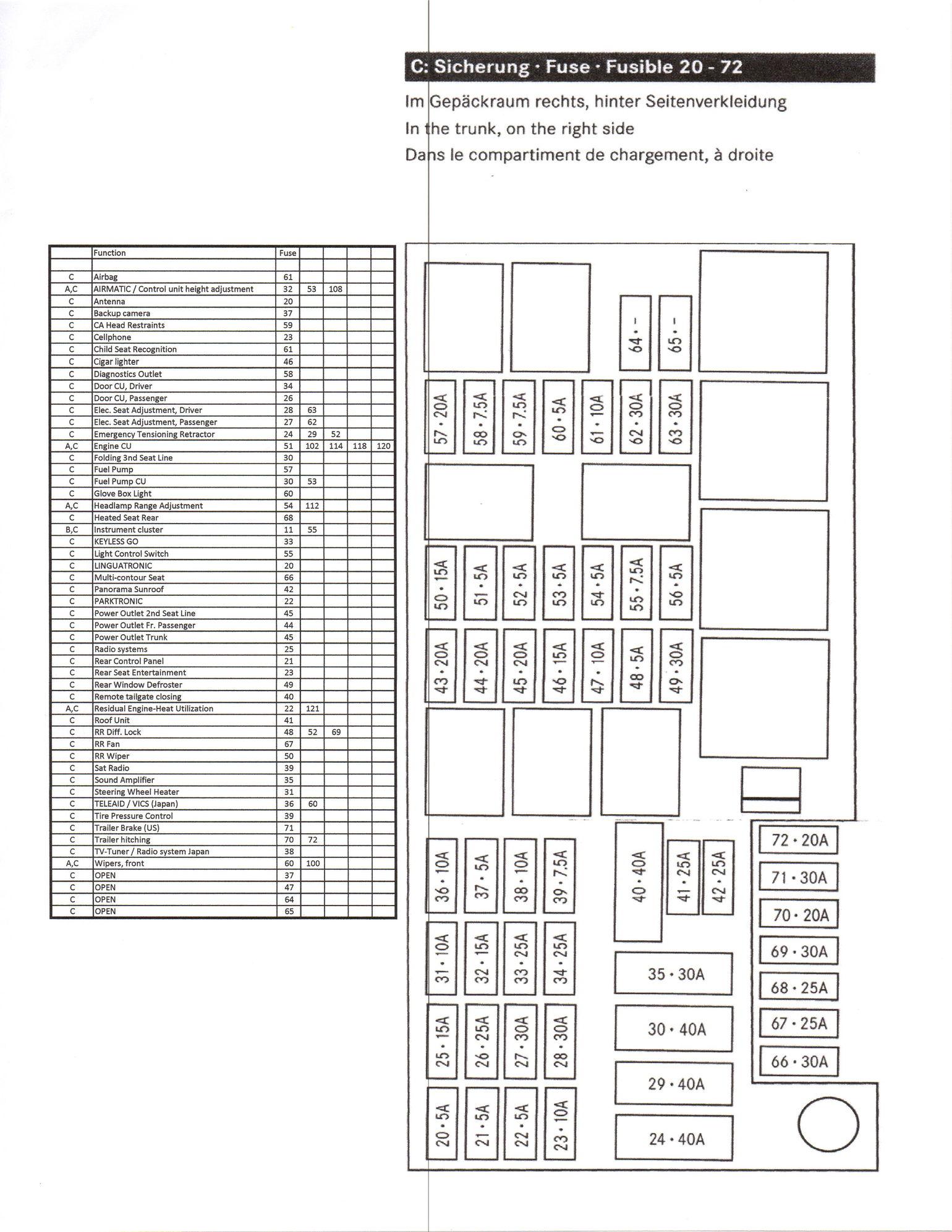 gl320 fuse box diagram 2006 2007 mercedes benz gl450 rear 2007 mercedes r350 fuse box diagram gl fuse chart 2007 2012 diagram, chart
