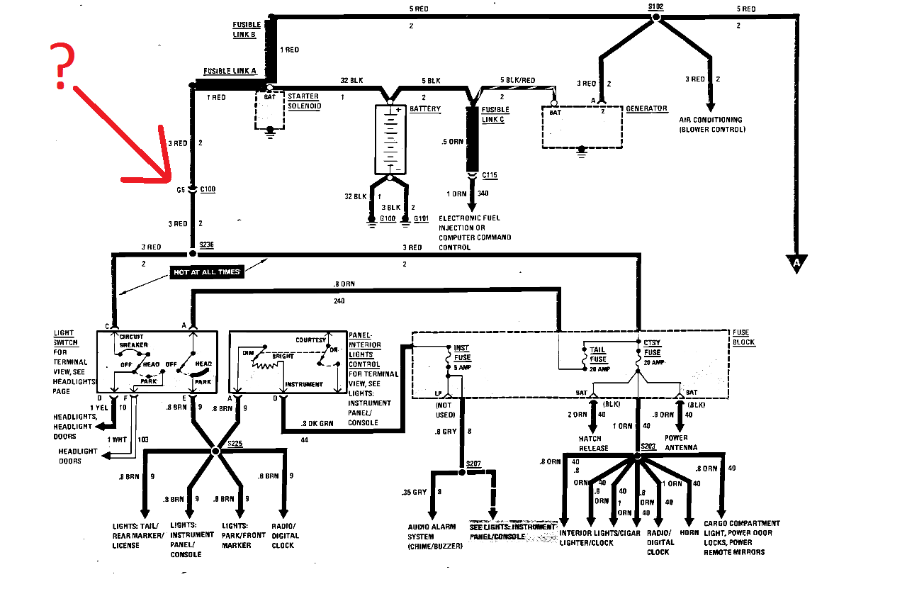 Third Wire With Flat Prong Coming Off Red Starter Wire