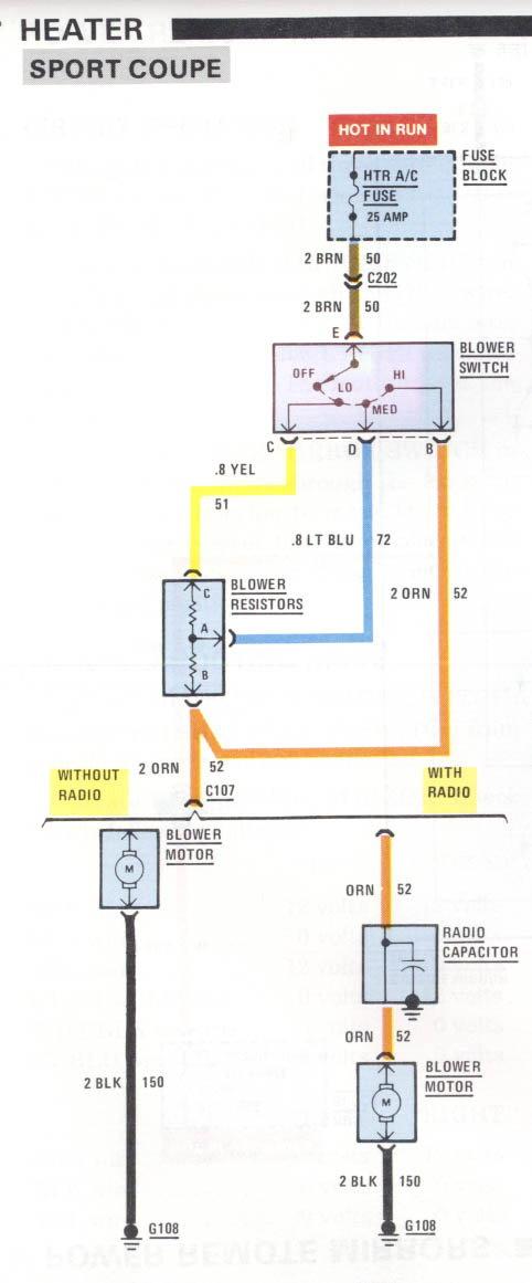 blower motor wiring non ac  third generation fbody message