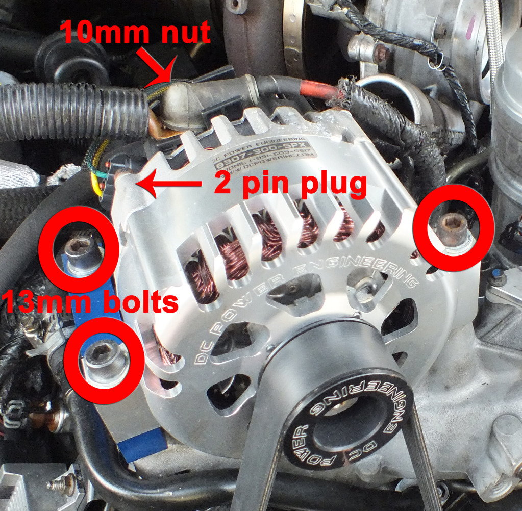hight resolution of remove the alternator wiring and brackets