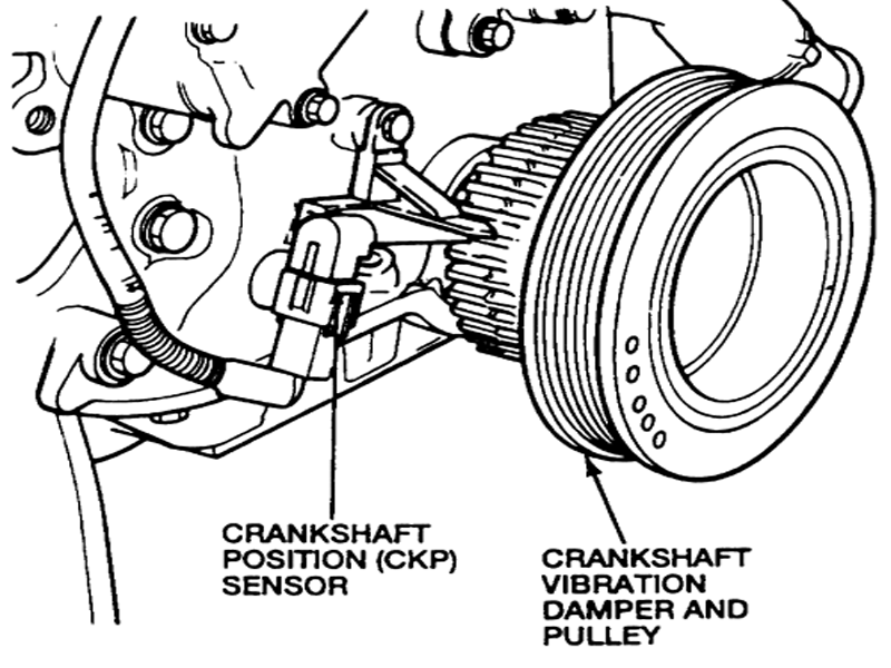 Ford F150 F250 Replace Crankshaft Position Sensor How to