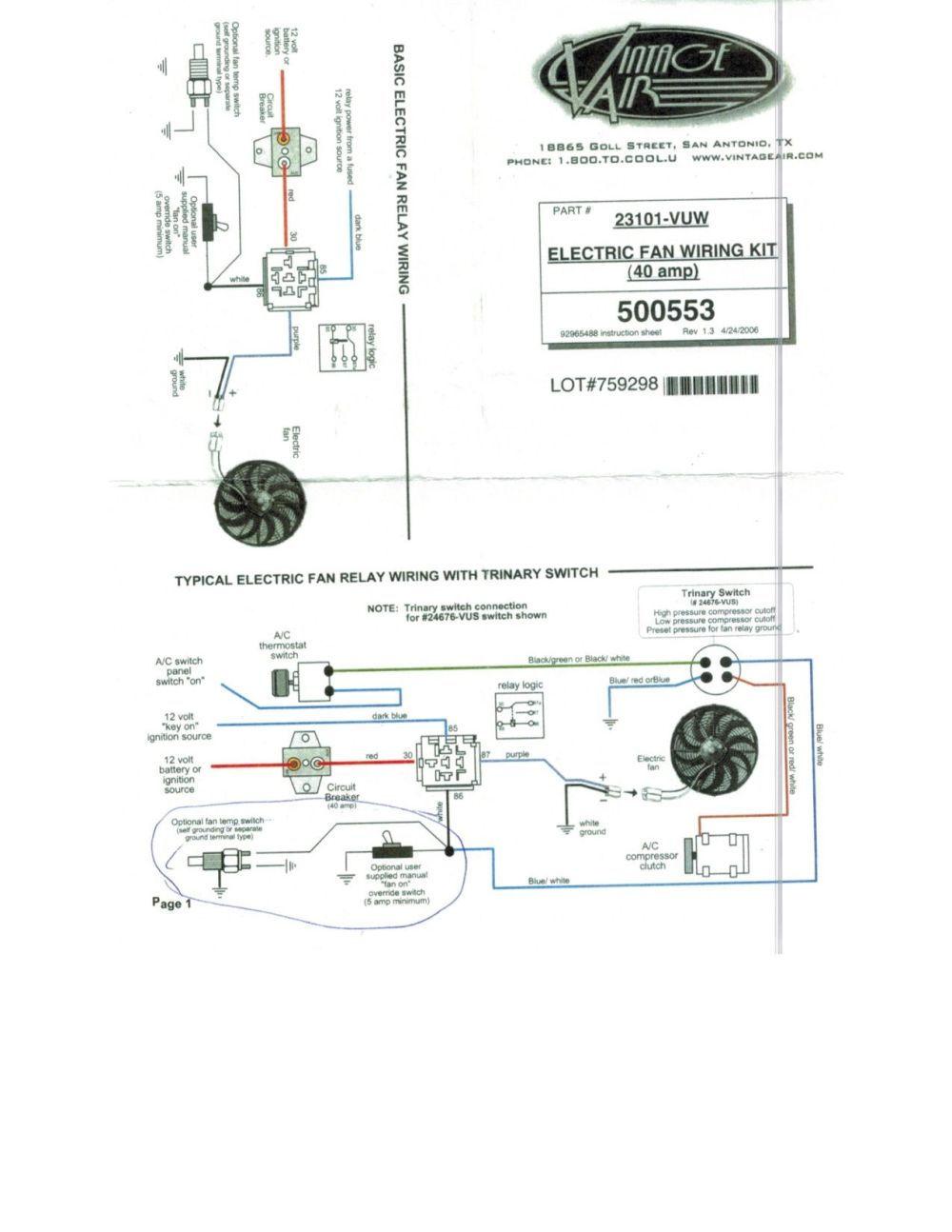medium resolution of fan wiring questions for ls1 with american autowire vintage air diagram vintage air wiring diagram