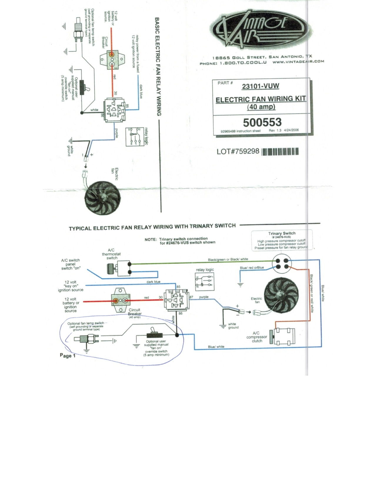 hight resolution of fan wiring questions for ls1 with american autowire vintage air diagram vintage air wiring diagram