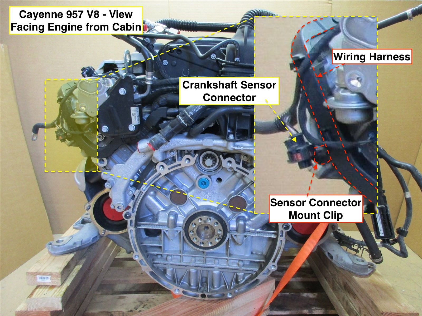 hight resolution of i also found that removing the harness from the engine made it easier to get my hands around the connector to get the two ends separated