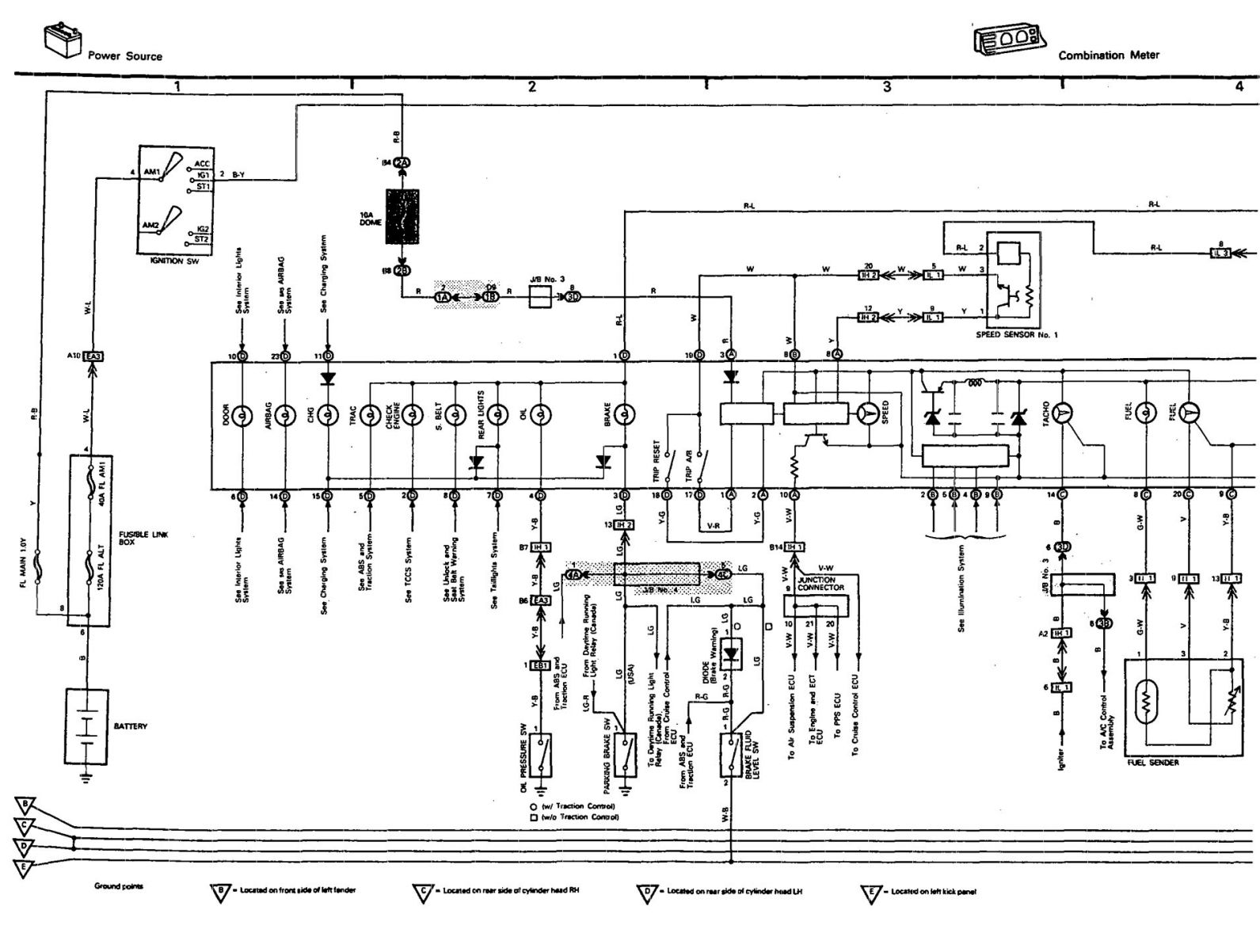 Wiring Diagram For Instrument Cluster For 91 LS400 ClubLexus
