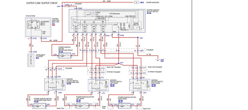 medium resolution of window only works with door open page 2 ford f150 forum 2004 f150 wiring schematics 2004 f150 window wiring diagram