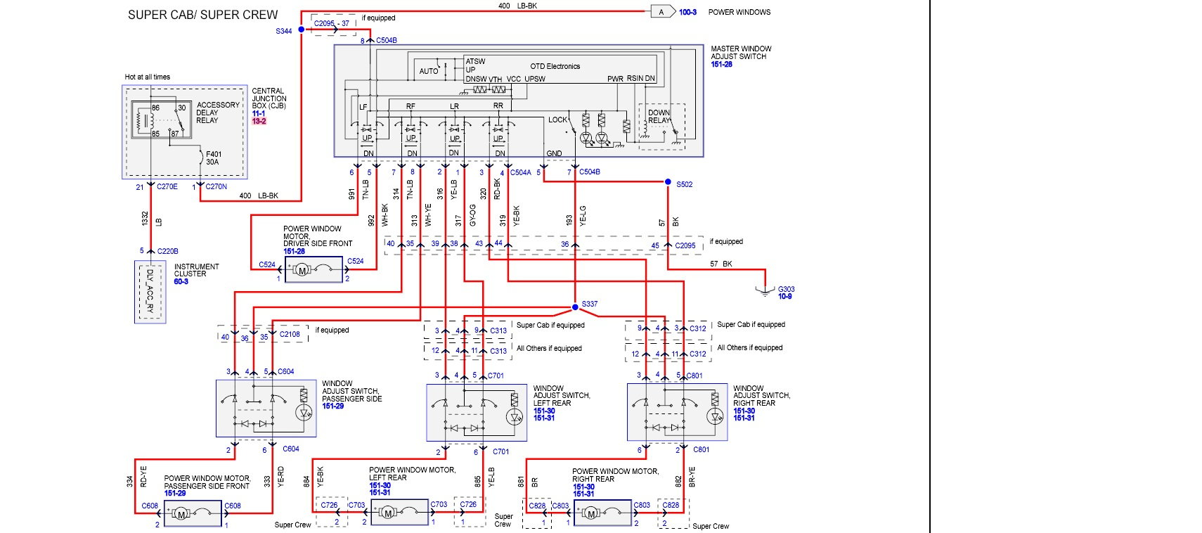 hight resolution of window only works with door open page 2 ford f150 forum 2004 f150 wiring schematics 2004 f150 window wiring diagram