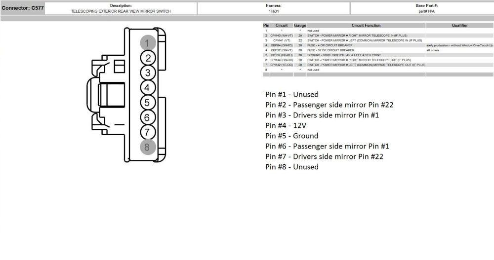 medium resolution of 04 f250 mirror wiring diagram