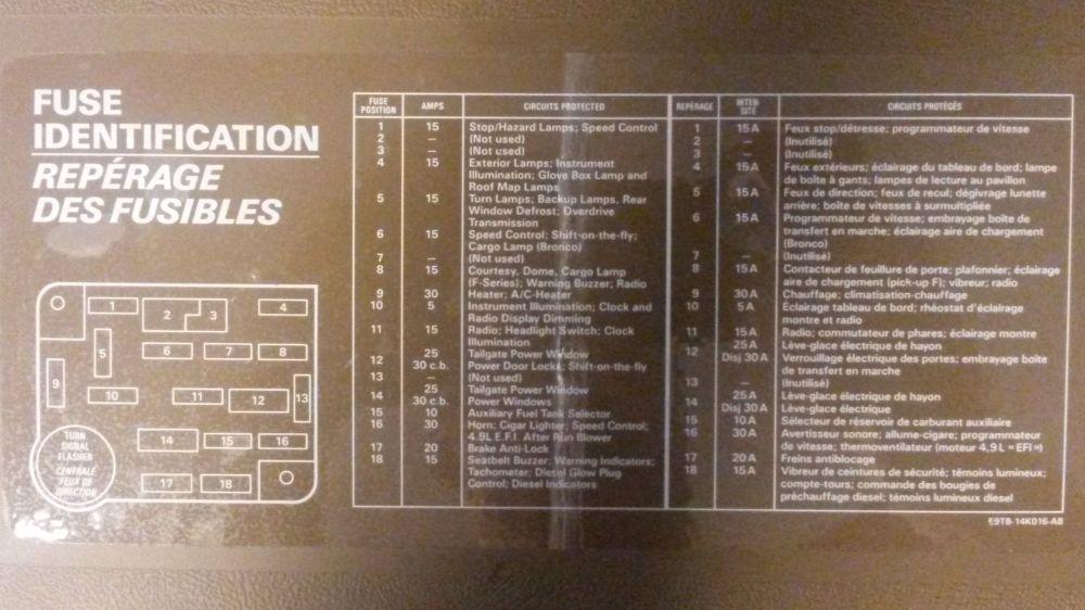 medium resolution of 89 f150 xlt lariat 302 electrical short ford truck 97 f150 fuse diagram 89 f150 wiring diagram