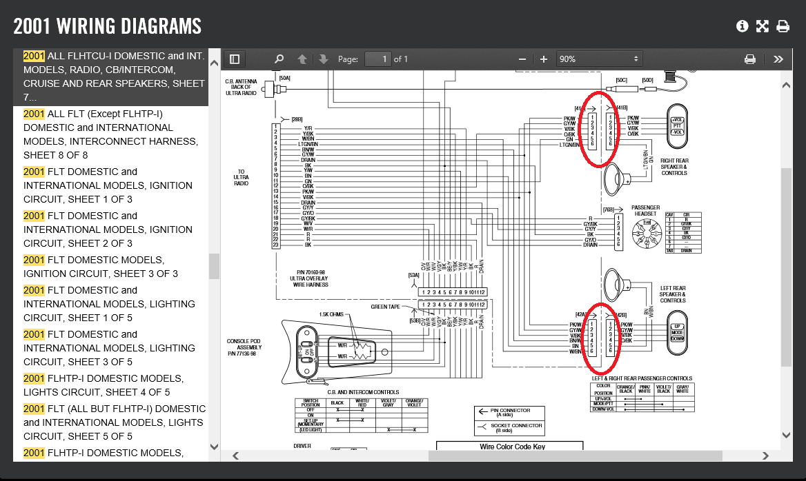 hight resolution of i m going to go with grbrown and say the rear speakers switches which would have been part of the tour pak on q 2001 ultra classic the wiring diagram