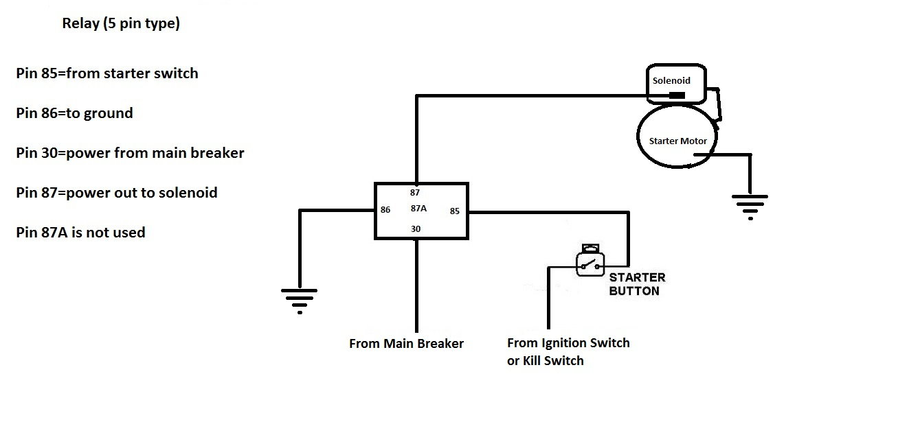 Relay Wiring Diagram 4 Pin : Diagram Wiring Diagram For 4