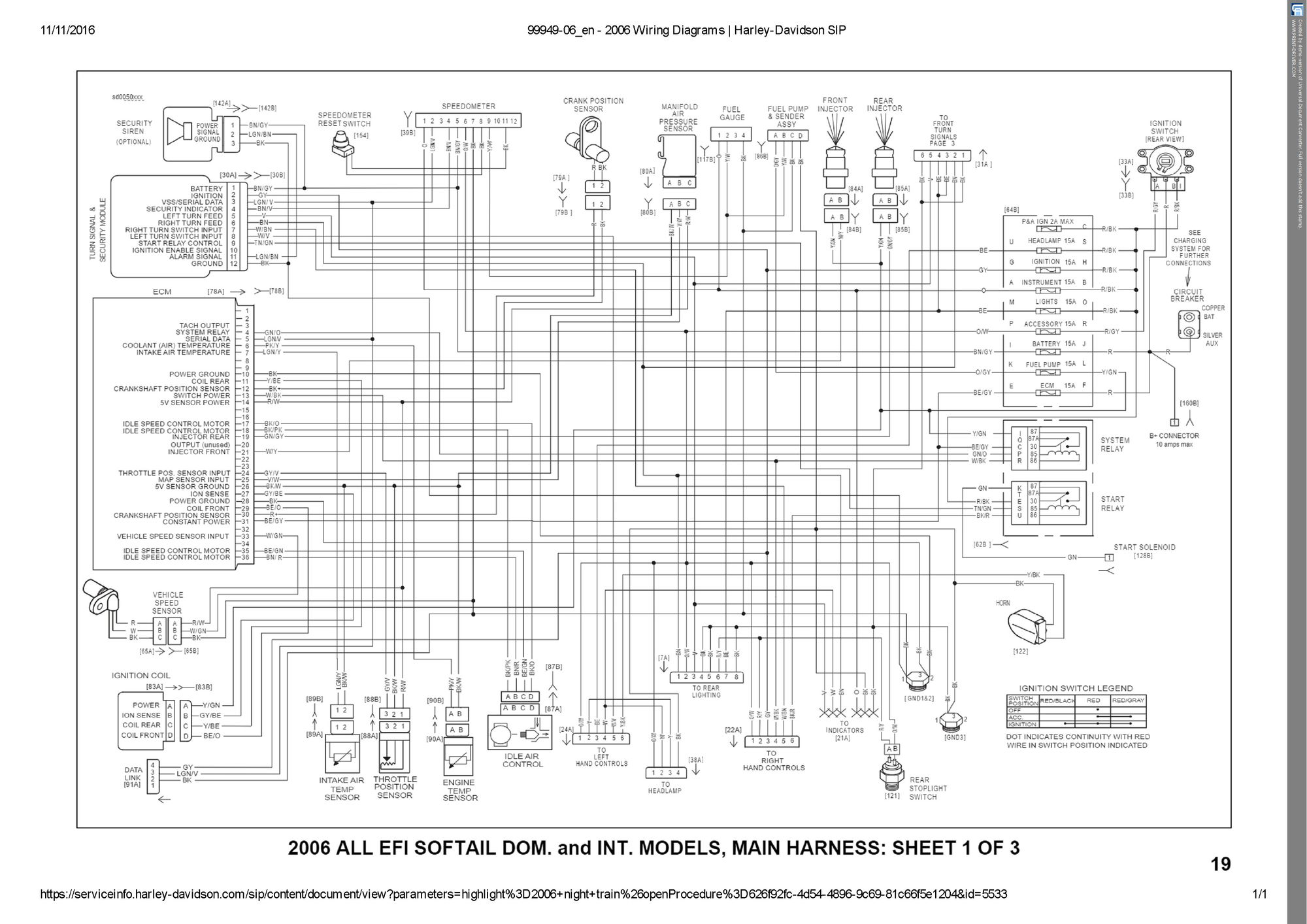 2005 harley davidson softail wiring diagram bms system 02 auto