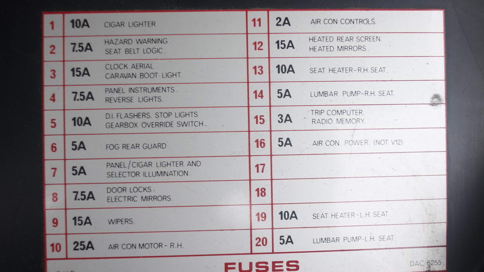 hight resolution of the dropdown fuse box panel on the drivers side of a 1990 xjs v12 which should be about level with your knees