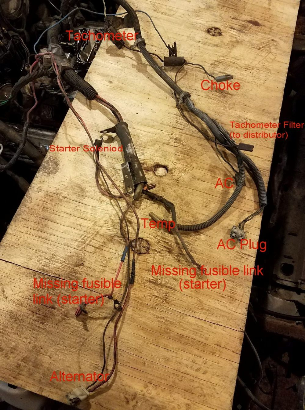 medium resolution of p s looks like only 1 of your starter wires does have a fusible link i didn t see it when i wrote the labels you should be sure to install