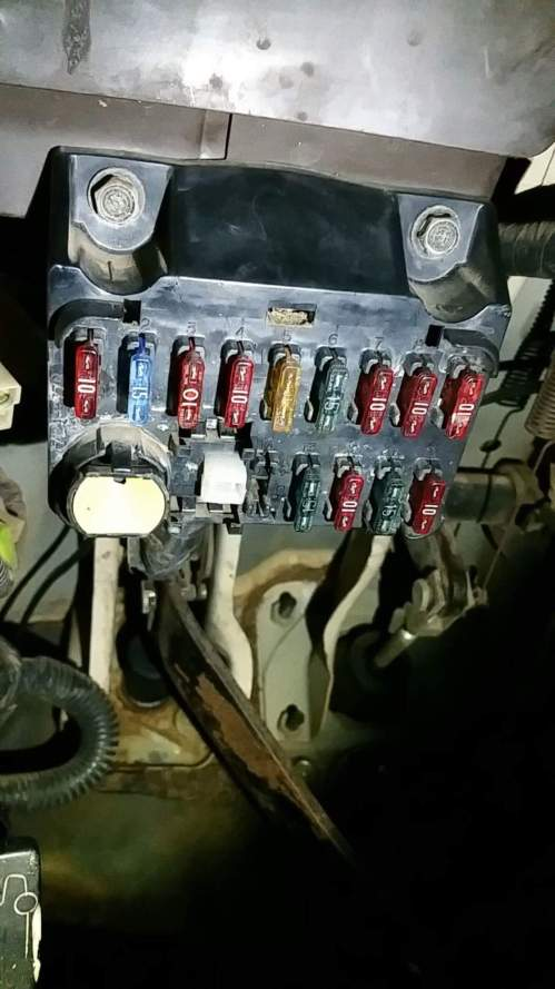 small resolution of in search of fuse diagram for 82 toyota pickup under driver dash searched all over