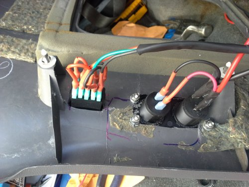 small resolution of rear aux outlet for a future 12v fridge and dual usb for my rear camera