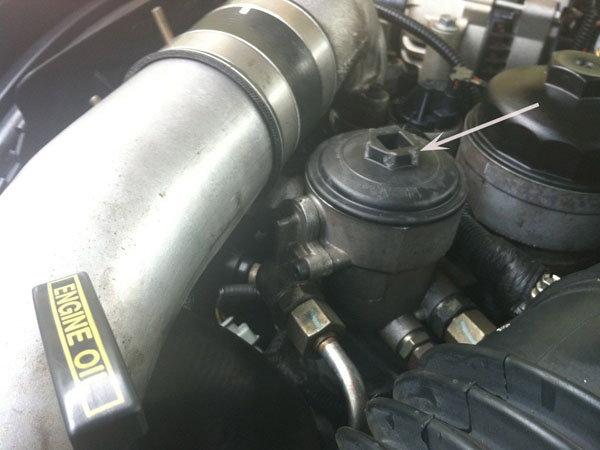 2008 f150 fuel filter location