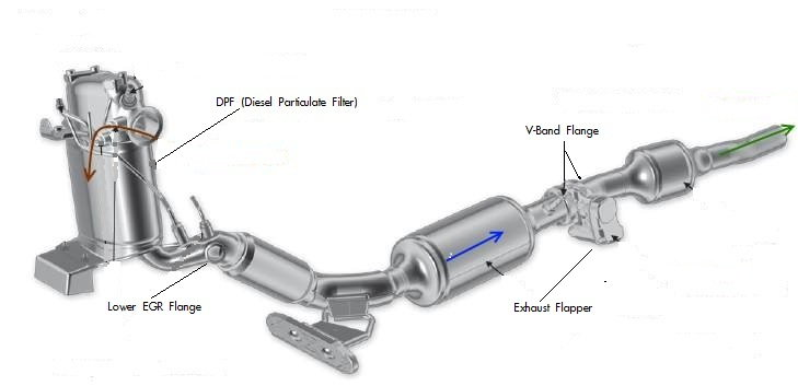 2007 Ford Taurus Exhaust System Diagram
