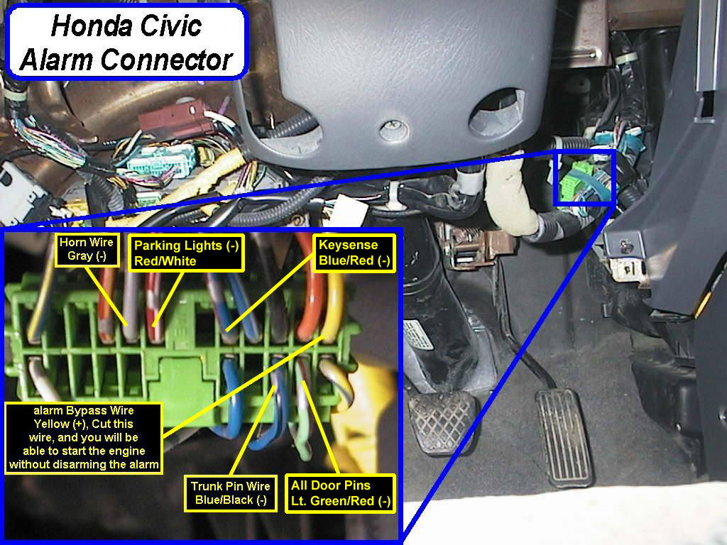 99 civic wiring diagram alarm create factory anti theft system issues honda tech
