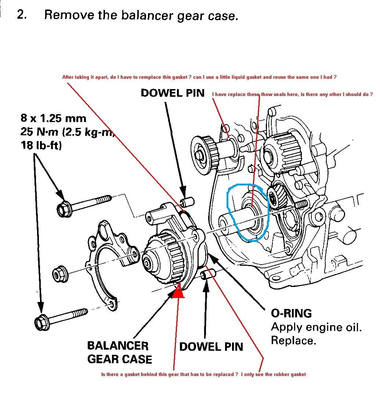 Honda Accord F22a Balancer Case Oil Seal Part