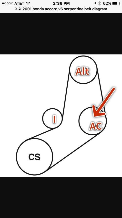 small resolution of serpentine belt to bypass ac compressor pulley honda tech honda 1995 honda accord v6 belt diagram kill cellulite