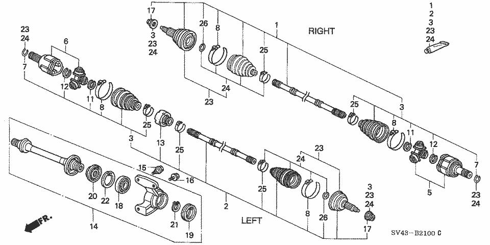 1994 accord LX, Intermediate shaft carrier bearing bolt