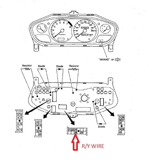[HOW TO] 240sx speedo wiring Dakota Digital SGI-5E