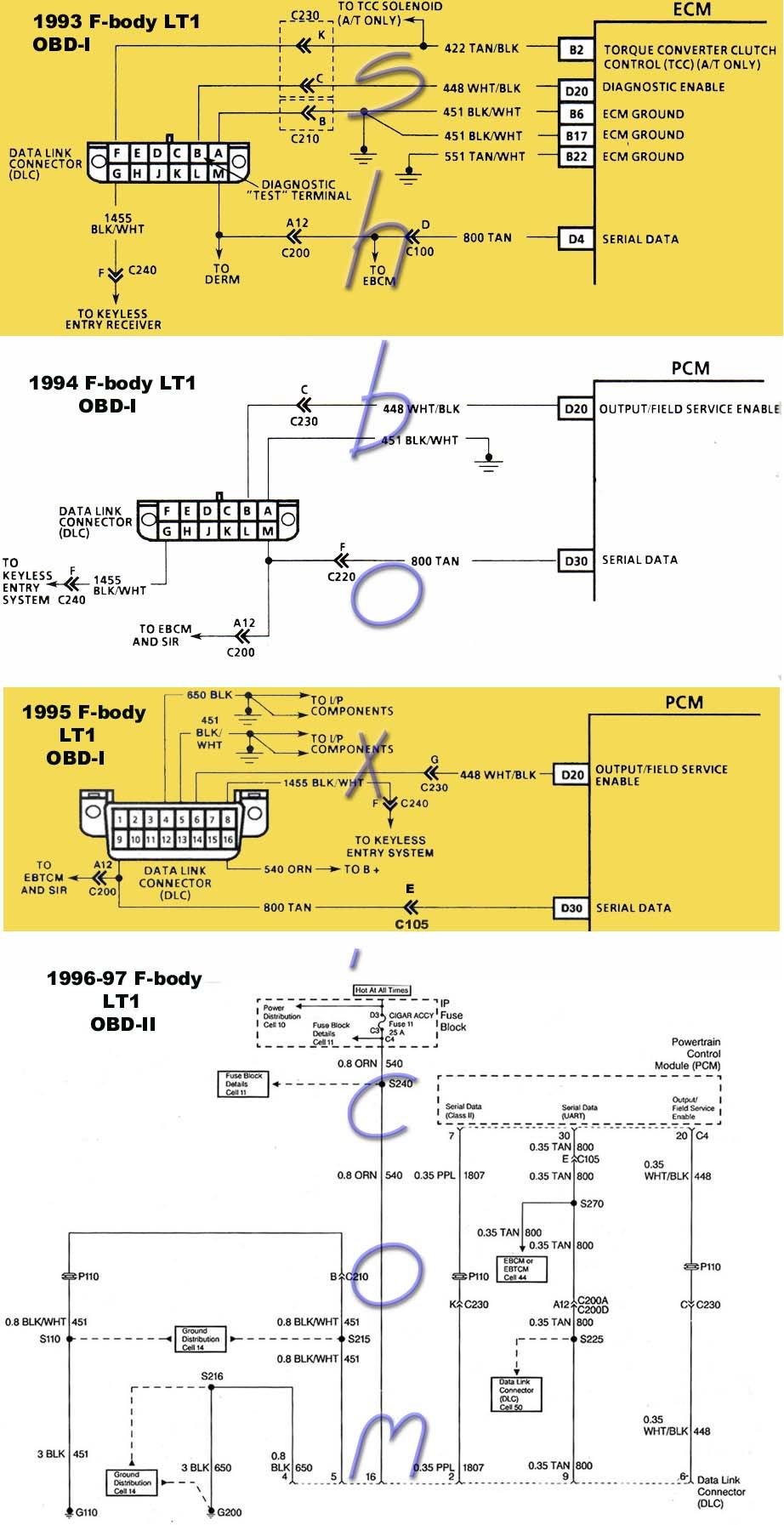 hight resolution of lt1 only runs on starter fluid ls1tech camaro and firebird camaro obd1 data link connectors dlc camaro diagrams pinterest