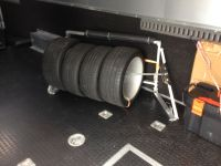 Tire rack falls off trailer wall - Rennlist - Porsche ...