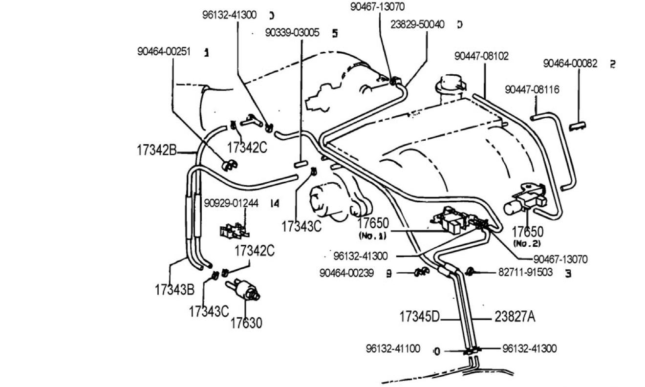 lexus ls400 vacuum diagram
