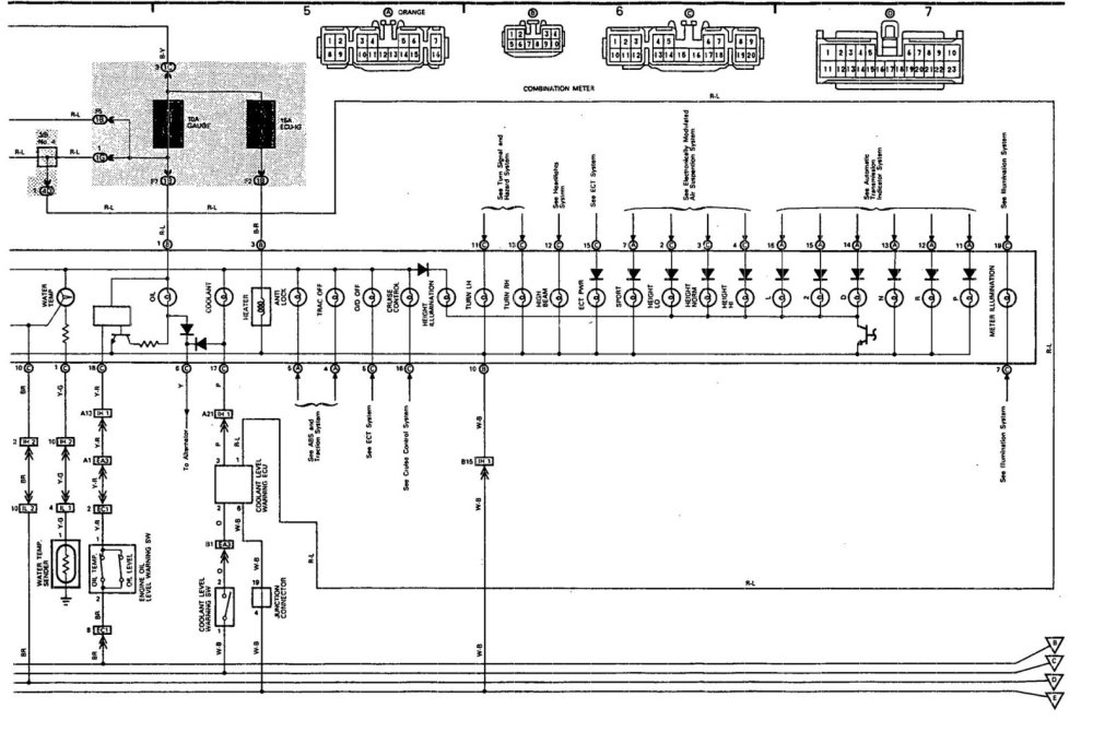 medium resolution of lexus ls400 instrument cluster wiring wiring diagram database 91 lexus ls400 wiring diagram radio 91 ls400 wiring diagram