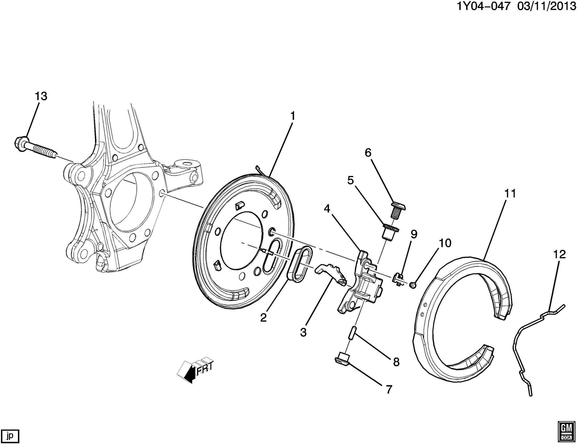 Parking brake spring, adjustment wheel?? HELP
