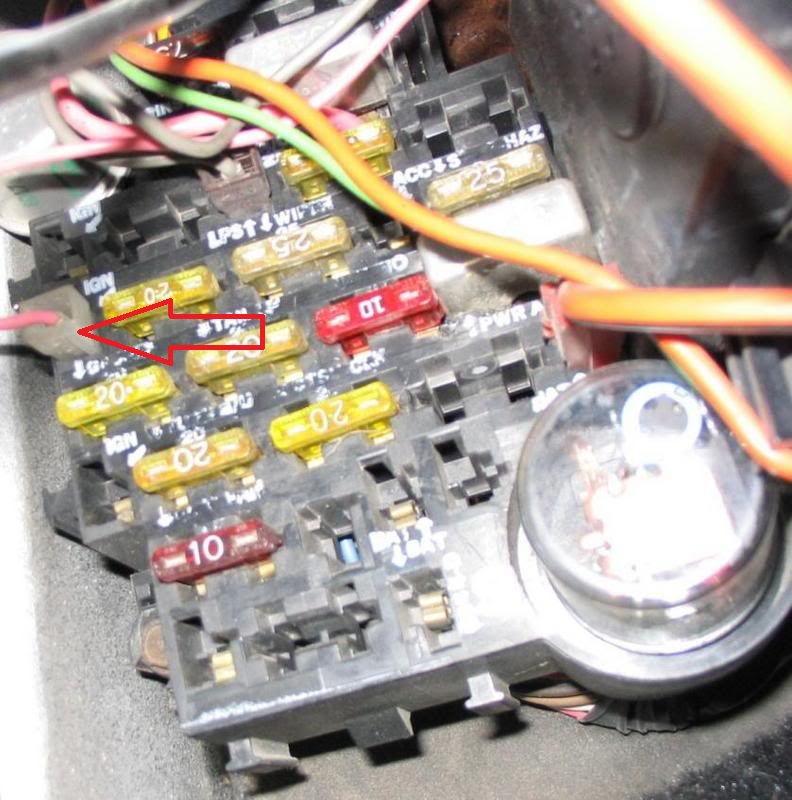 fuse box location 1978 corvette