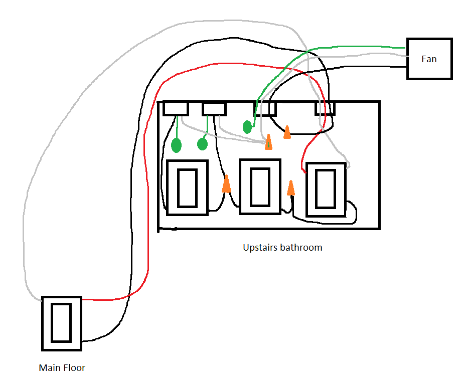 Replacing bathroom fan 3 way switch with a timer
