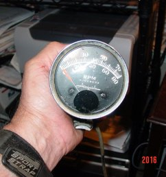 found an airguide tach i think it is a model 656 or 657 it has 4 wires blue red green and either yellow or white does anyone know which wire goes  [ 1280 x 960 Pixel ]