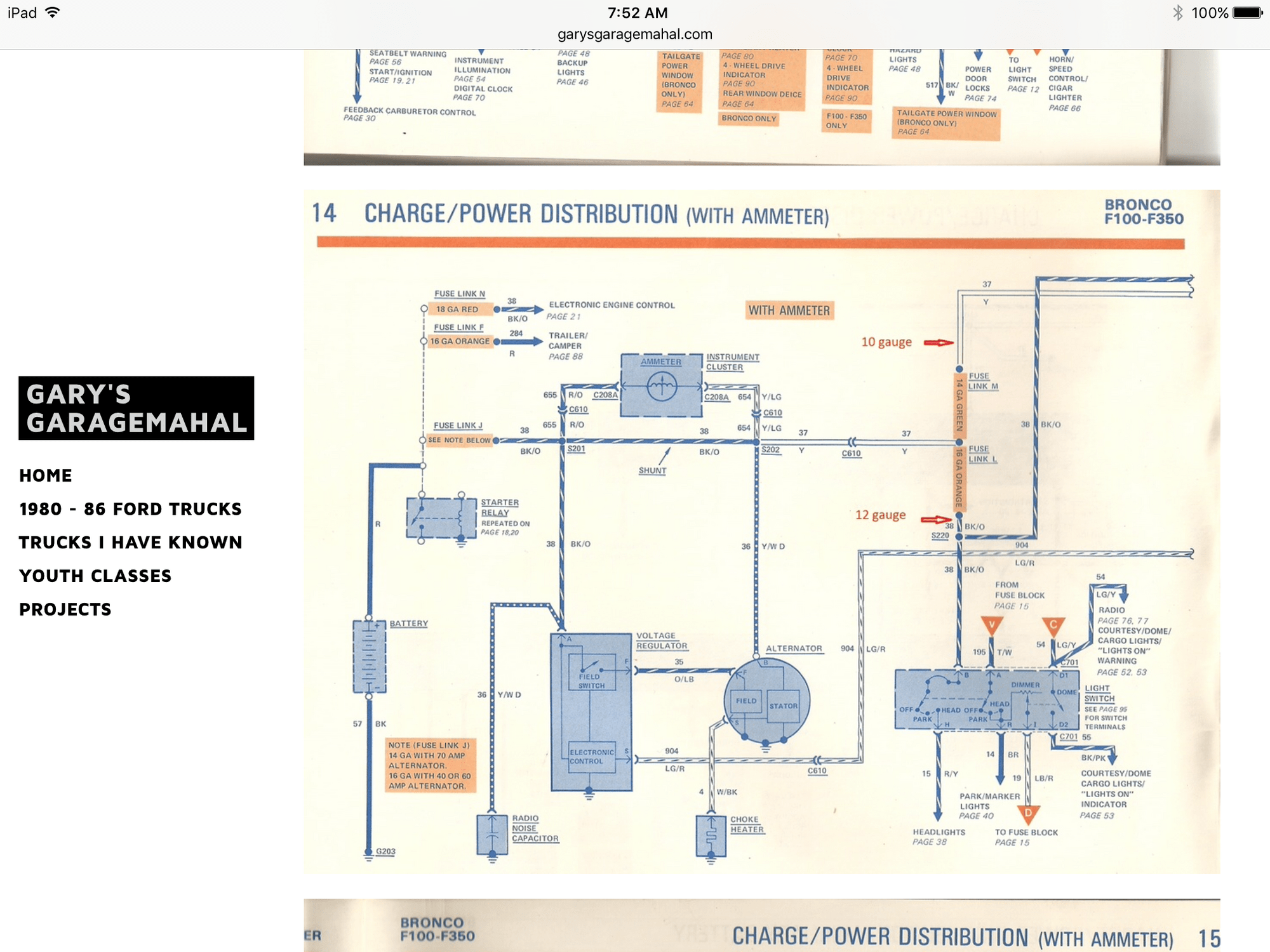 ford alternator diode testing wiring diagram for ac thermostat parasitic battery draw (key off drain) - page 7 truck enthusiasts forums